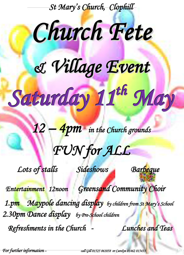 Church Fete and Village Event